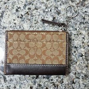Authentic Coach Mini Key Wallet